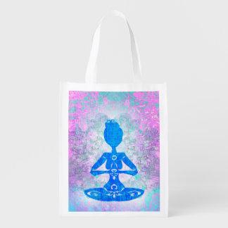 Meditation Yoga Reusable Grocery Bag