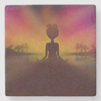 Meditation Yoga Stone Coaster