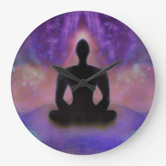 Meditation Yoga Wall Clock