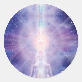Meditator Classic Round Sticker