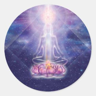Meditator Round Sticker