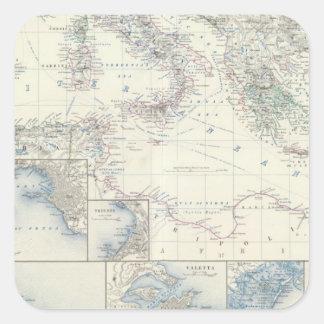 Mediterranean Basin Square Sticker