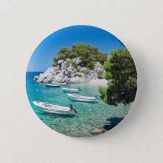 Mediterranean Beach 6 Cm Round Badge