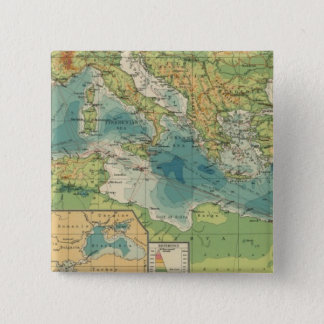 Mediterranean, Black Sea cables, wireless stations 15 Cm Square Badge