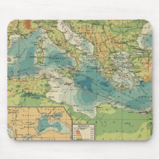 Mediterranean, Black Sea cables, wireless stations Mouse Mat