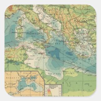 Mediterranean, Black Sea cables, wireless stations Square Sticker