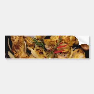 Mediterranean Chicken Skillet Bumper Sticker