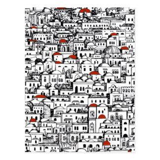 Mediterranean City Postcard