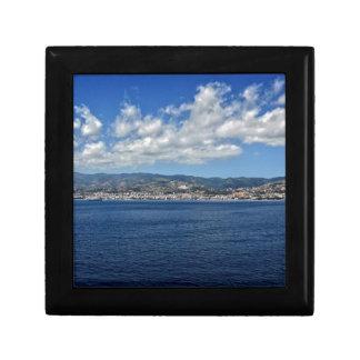 Mediterranean Coast Small Square Gift Box