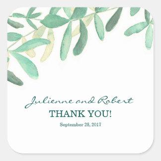 Mediterranean  | Foliage Wedding Favor Sticker
