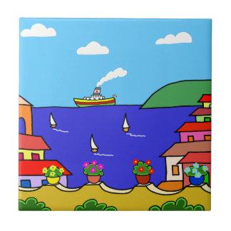 Mediterranean Holiday Tile