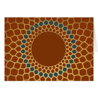 Mediterranean Honeycomb Greeting Card