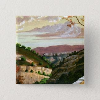 'Mediterranean Landscape' by Prosper Merimee 15 Cm Square Badge