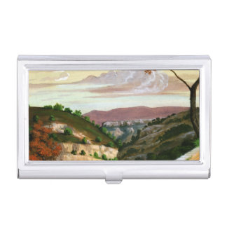 'Mediterranean Landscape' by Prosper Merimee Business Card Holder