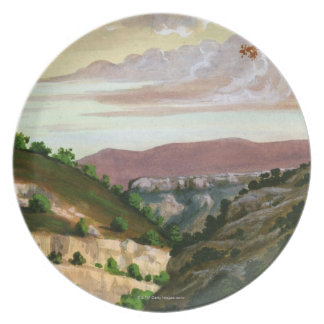 'Mediterranean Landscape' by Prosper Merimee Party Plates