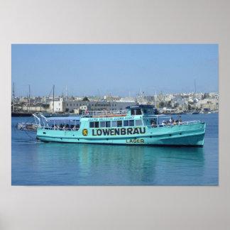 Mediterranean Malta Sliema Valletta Ferry Print