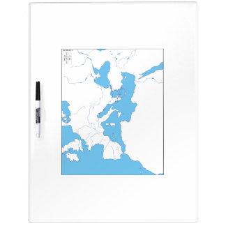 Mediterranean Map Whiteboard Dry-Erase Whiteboards