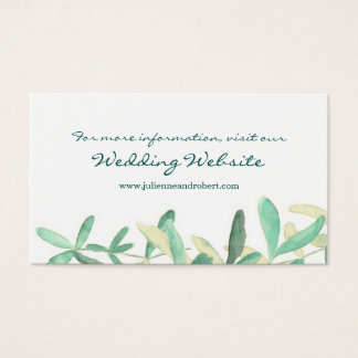 Mediterranean | Modern Foliage Website Card