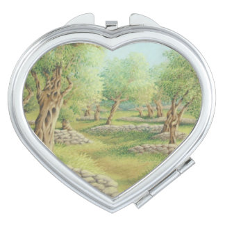 Mediterranean Olive Grove, Spain Compact Mirror