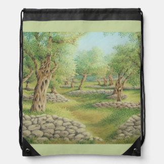 Mediterranean Olive Grove, Spain Drawstring Bag