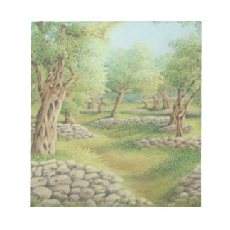 Mediterranean Olive Grove, Spain in Pastel Notepad