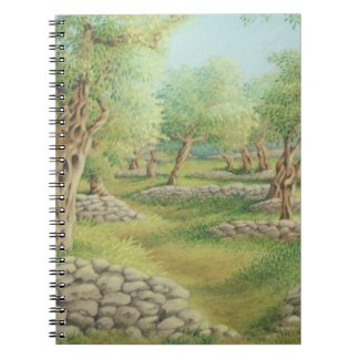 Mediterranean Olive Grove, Spain Notebook 80 pages