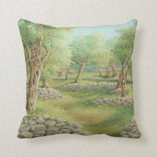 Mediterranean Olive Grove, Spain Polyester Cushion