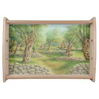 Mediterranean Olive Grove, Spain  Serving Tray