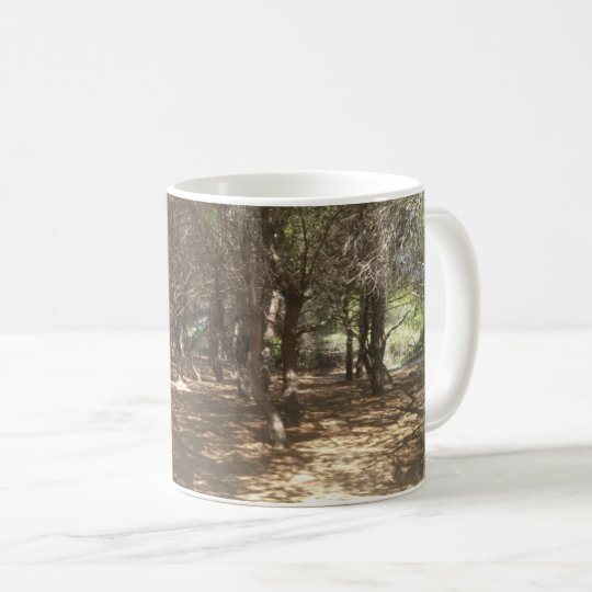 Mediterranean pinewood coffee mug