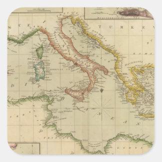 Mediterranean Sea 6 Square Sticker