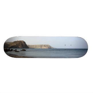 Mediterranean Sea and beach the Blacks, photograph 20.6 Cm Skateboard Deck
