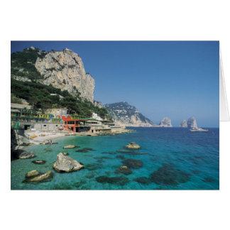 Mediterranean Sea Coast Beach of Italy Card