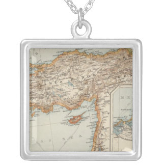 Mediterranean Sea E Silver Plated Necklace