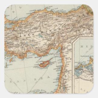 Mediterranean Sea E Square Sticker