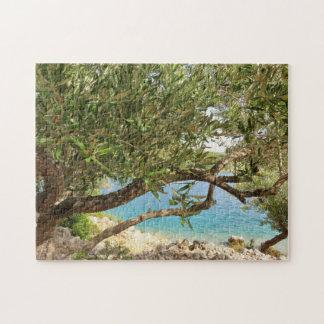 Mediterranean Sea Olive Tree Jigsaw Puzzle