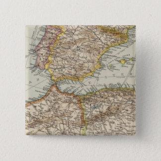 Mediterranean Sea W 15 Cm Square Badge