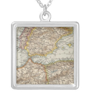 Mediterranean Sea W Silver Plated Necklace