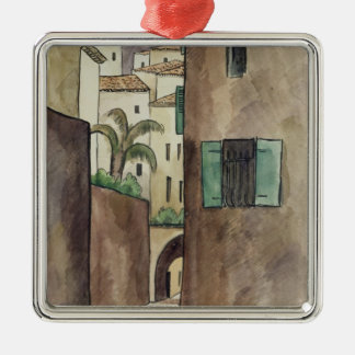 Mediterranean Street and Houses Christmas Ornament