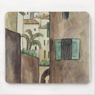 Mediterranean Street and Houses Mouse Mat