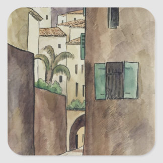 Mediterranean Street and Houses Square Sticker