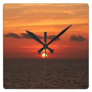 Mediterranean Sunset Clocks