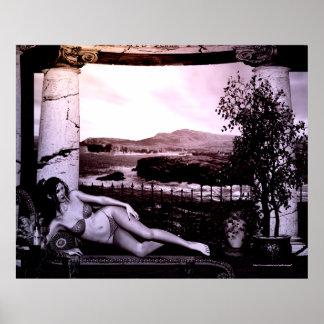 Mediterranean Sunset Fantasy Print