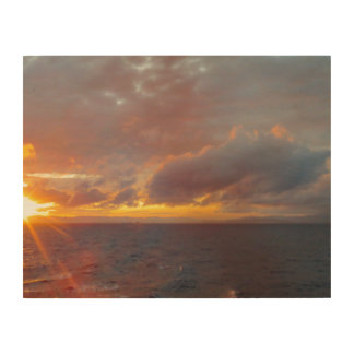 Mediterranean Sunset Wood Print