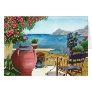 Mediterranean view Card