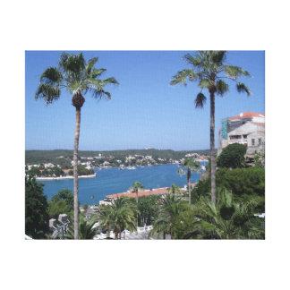 Mediterranean View One (Menorca, Spain) Canvas Print