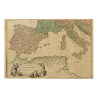 Mediterranean West Wood Wall Art