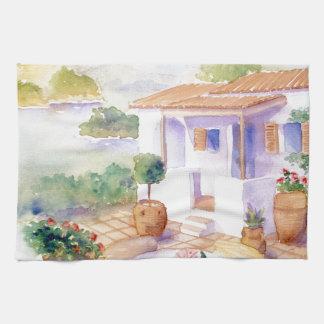 Meditteranean villa handtowel tea towel