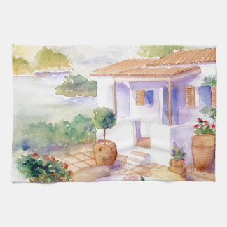 Meditteranean villa handtowel towels