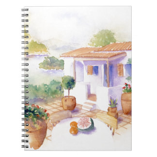 Meditteranean villa notepad notebooks