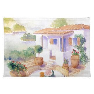 Meditteranean villa placemat